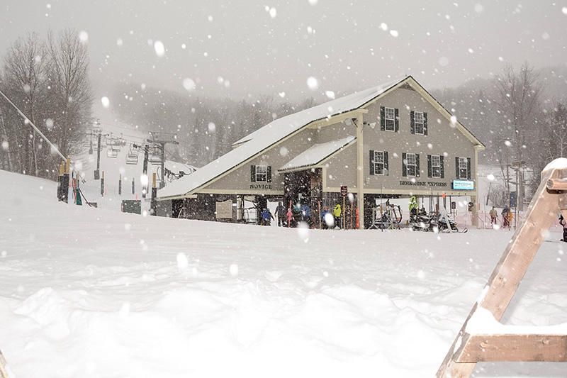 Jiminy Peak mountain resort snow storm